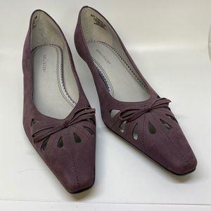 Naturalizer Purple Kitten Heels